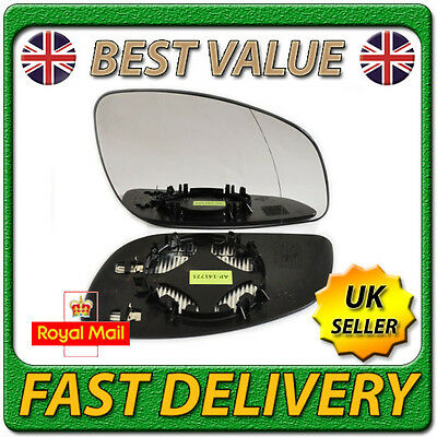 Right Driver Side Heated Wing Door Mirror Glass for VAUXHALL VECTRA C 2003-2008