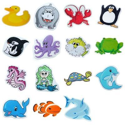 Tub Tattoos (5 Pack) - Clownfish, Frog, Turtle, Lobster, Penguin Appliques