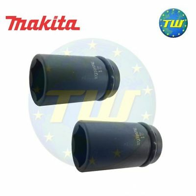 "2x Genuine Makita 21mm Scaffolders Socket - 1/2"" Drive Scaffold Sockets - 2PK"