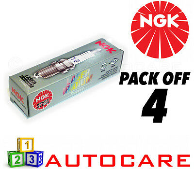 NGK Laser Iridium Spark Plug set - 4 Pack - Part Number: IZFR5B No. 4080 4pk