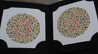 24 PLATE ISHIHARA TESTS BOOK - For COLOR BLINDNESS TESTING