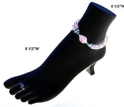 """Black Toe Ring and Anklet Polystyrene Display Foot 8 1/2""""W x 3""""D x 6 1/2""""H"""