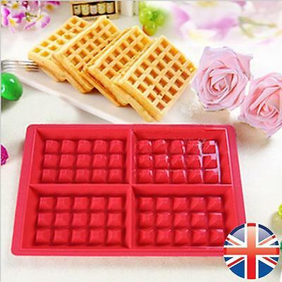 *UK Seller* Silicone Waffles Mould Muffin Pans Baking Cake Mold Tray Waffle