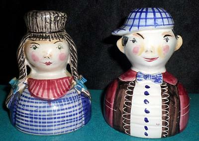 Vintage Porcelain/Ceramic Figural Candle Holders Marked Made in Italy 66/16 R1