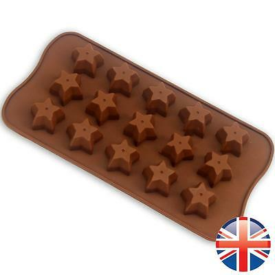 *UK Seller* Silicone Chocolate Stars Baking Mould Mold