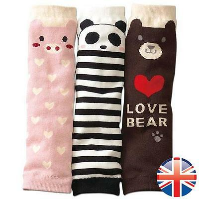 *UK Seller* Cute Baby Toddler Leg Warmers Boys Girls Pig Bear Panda Knee Socks
