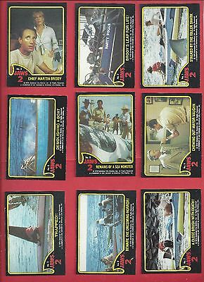 1978 Topps Jaws 2 Complete your set 10 cards nm to mint for $2.00
