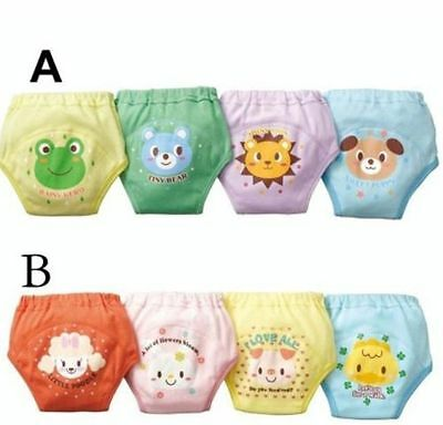 4PCS Kids Baby Boys Girls 4 Layers Toddler Potty Training Pants Cotton Underwear