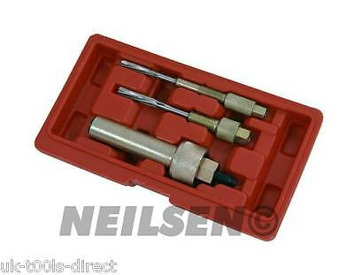 3pc Glow Plug Extractor Puller Remover & Reamer Removal Set Kit 8,10 &12mm