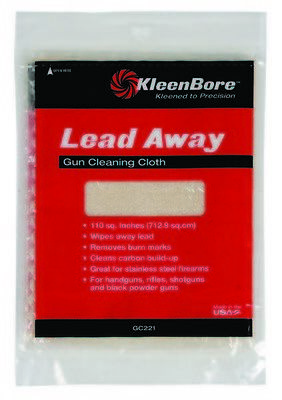 NEW! Kleen Bore Lead Away Gun Cleaning Cloth Wipe 100 Sq. In. (Model# GC-221)