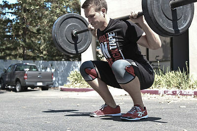 RockTape Red Knee Caps Support 5mm CrossFit Weightlifting Powerlifting