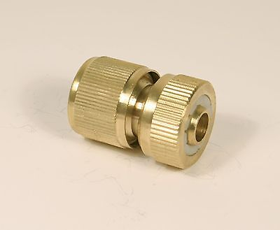 Brass 1/2 Hose Connector Without Auto Stop With Female Hose Lock Type Connection