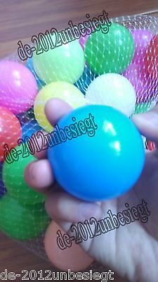 200 pc Colorful Ball Pit Balls Fun Ball Soft Plastic Sizzlin Cool Ocean Swim Toy