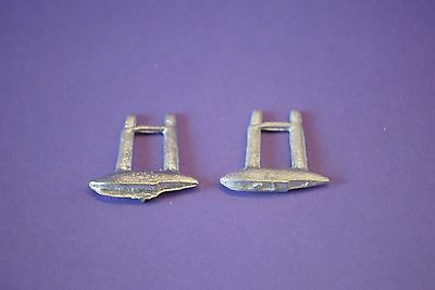 Dinky Flying Boat No.60w  Floats x2 white Metal Casting / spare parts