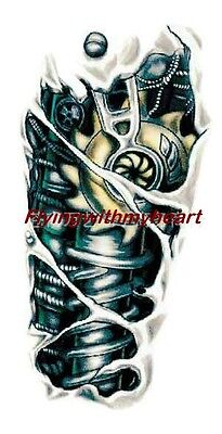 Colorful Waterproof Robot Arm Tattoo Stickers Tattoo Temporary Stickers
