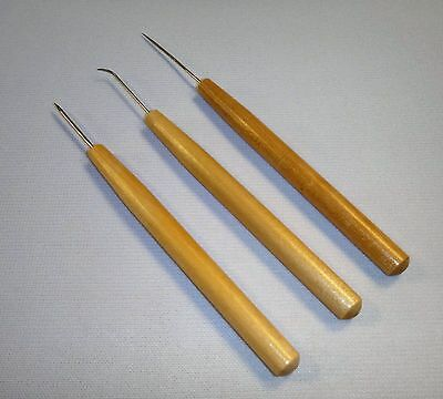 "6"", 6"", & 6.5"", 3 Piece Clay Modeling Tools Hook Smooth"