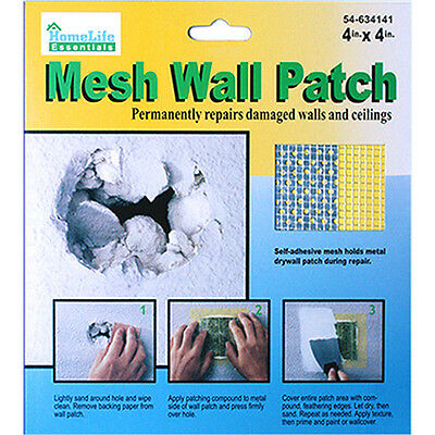 DRYWALL REPAIR PATCH Fix Dry Wall Hole Repair Ceiling Damage —Metal Mesh 4x4""