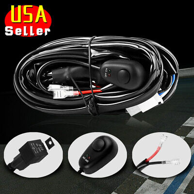 8ft 40A Power Switch & Relay Wiring Harness Kit 12V for LED Light Bar Offroad