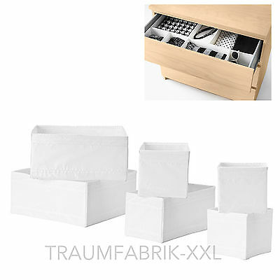 ikea skubb kleidungsbox 6er set wei aufbewahrung. Black Bedroom Furniture Sets. Home Design Ideas