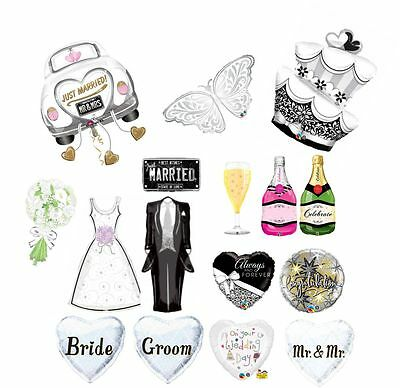 e5f201fdb Wedding Day Just Married Ceremony Blessing Bride Groom Helium Party Balloons