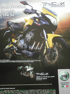 Benelli Tre 1130 K Amazonas # Colour Advert # 1 Page