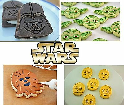Star Wars Cookie Plunger Cutter Set Face Push Press Biscuit Maker Fondant Cake