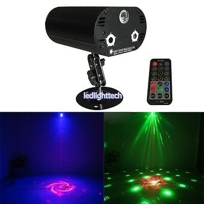 3 Lens 36 Patterns Red Green Laser RGB LED Stage DJ show Lighting effects system