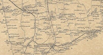Allentown Imlaystown Hornerstown NJ 1873 Maps with Homeowners Names Shown