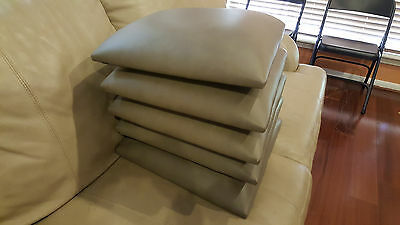 Local Pickup- 5x CONTEMPORARY Replacement Leather Seat Pads-Bernhardt Furniture