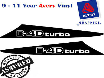 D4D Turbo Decal Sticker For Toyota Hilux 2 Fin Small Scoop 2005 TO 2011 4X4