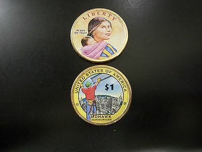 2015 Native American Dollar Colorized on Both Sides