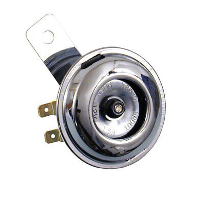Small Chrome Smooth Universal Horn 65mm Motorcycle/Bike Highway Hawk 69-122