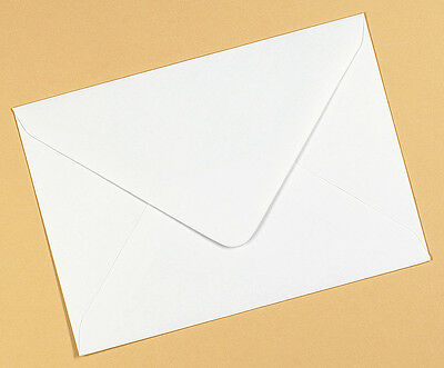 White Thick 140gsm Greetings Card Envelopes, Gummed Flap, 4 Sizes, C6, Square