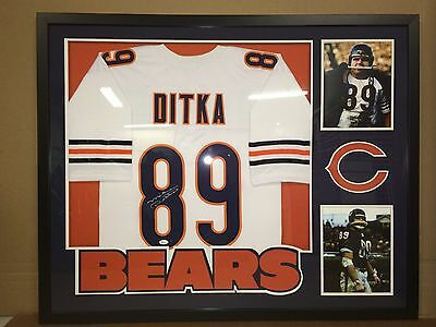 new products d80cd f66e5 MIKE DITKA FRAMED Jersey Signed JSA COA Autographed Chicago ...