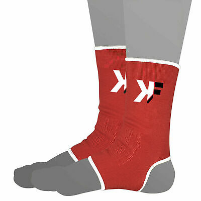 KIKFIT Black Muay Thai Kickboxing MMA Ankle Support Anklets Pain Foot Protector