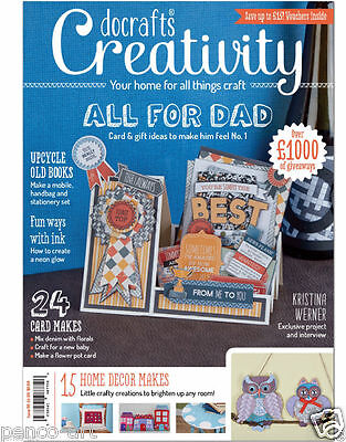 Docrafts creativity magazine May 2015 no. 58 +FREE stamp set die & A5 Owl paper