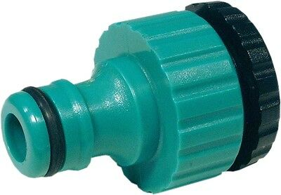 1/2 To 3/4 Plastic Dual Purpose Tap Connector With Hose Lock Type Male Fitting