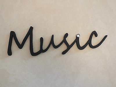 "Wooden ""Music"" Plaque Words/Letters Home/Door/Wall Decoration Art/Craft"