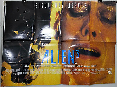 Alien 3 - Sigourney Weaver / Charles Dance - Original Uk Quad Movie Poster