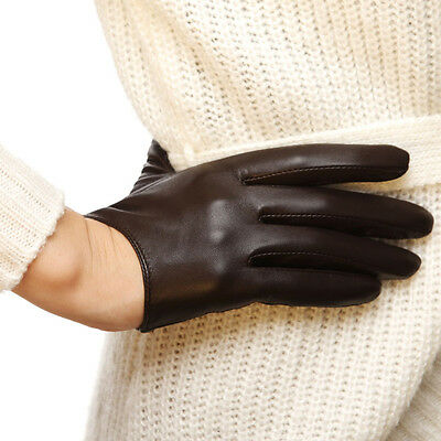 Ladies Woman Genuine Nappa Leather Low Cut Driving 2 Color Gloves On Sale #L098N