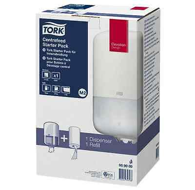 Tork Centre Feed Paper Towel Dispenser White + FREE Roll New 4 Toilets Cloakroom