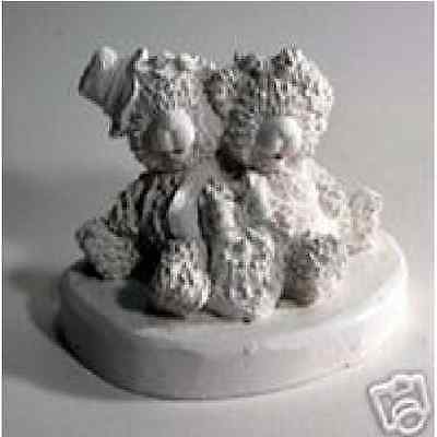 Two Bears latex Mould/Mold plaster/candle/soap 1017