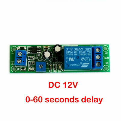 1Pc 12 Vdc Adjustable , On Delay Time , 0 To 20 Seconds , 10 Amp Relay Board