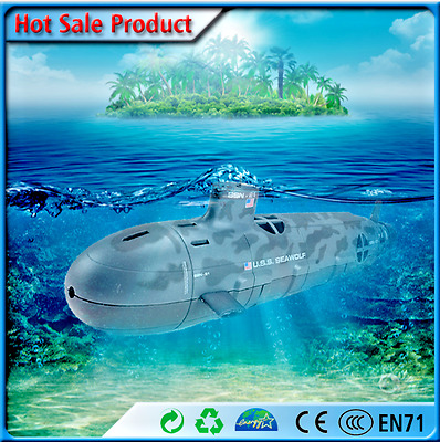 Scuba Seawolf Nuclear Submarine Remote Control Toy 6 Channel 35cm RC Diving NEW