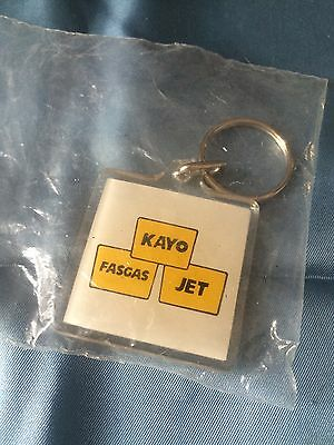 Kayo Fas Gas Jet Logo Key Chain New In Package Conoco Brands Gas Station