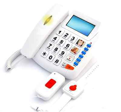 HQTELECOM SOS PHONE FOR SENIORS - Supports 5 Pedants & 10 Emergency Numbers