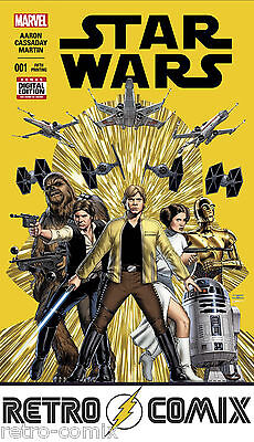 Star Wars #1 5Th Print Marvel Cassaday Variant (2015)  Bagged & Boarded