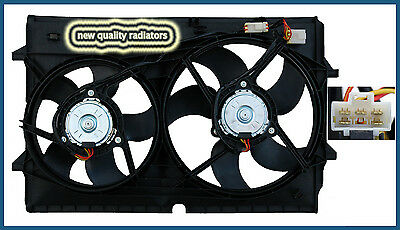 Holden Commodore VZ V8 New Radiator Thermo Dual Fan Assembly 2004-2006 5 PIN FIT