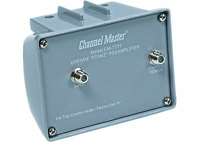 Channel Master Titan 2 Preamplifier TV Antenna Signal Booster High Gain CM 7777