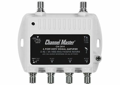 Channel Master Antenna Signal Booster Distribution Amplifier Ultra Mini CM-3414